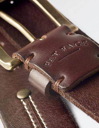 Twin Needle Leather Belt