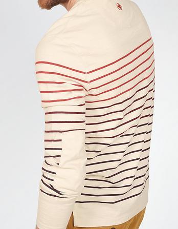 Graduated Stripe Crew Neck T-Shirt