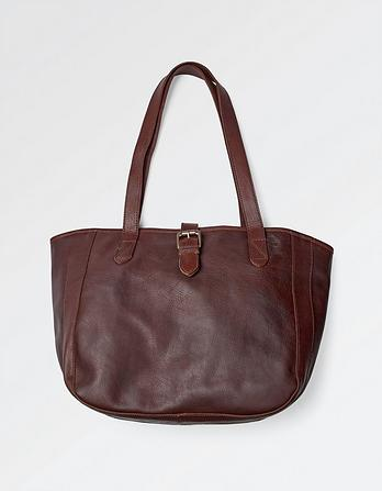 Small Oiled Leather Tote Bag