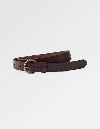 Leather Dot Embossed Belt