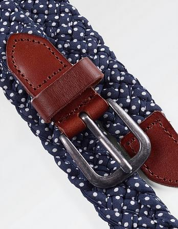 Polka Dot Plaited Belt