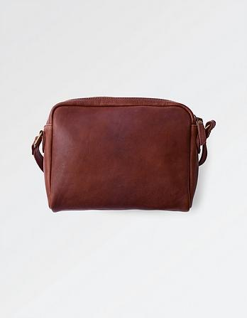 Leather Cross Body Camera Bag