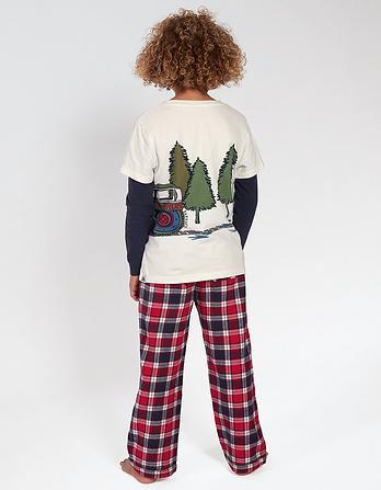 Snooze Patrol Check Pyjama Set