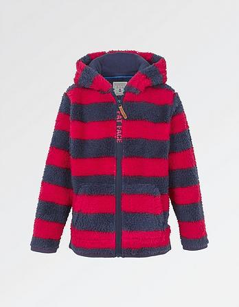 Stripe Zip Thru Fleece