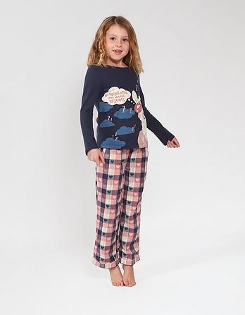 Llama Check Pyjama Set