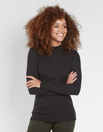 Turtle Neck Rib Top
