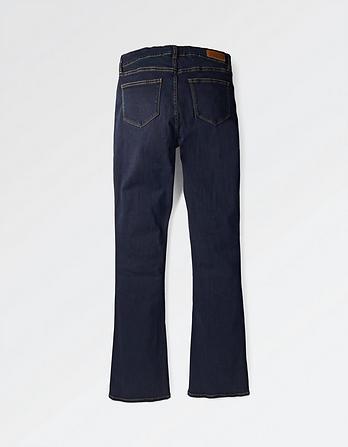 Blue Overdye Bootcut Jeans