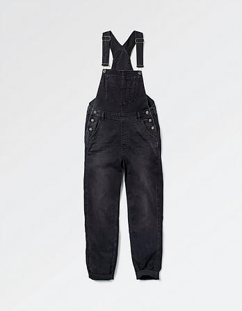 Washed Black Dungarees