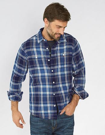 Welstead Indigo Check Shirt