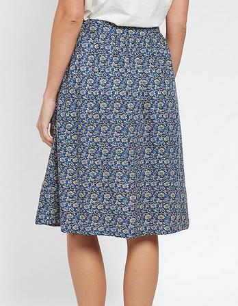 Effie Jacquard Floral Skirt