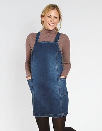 Leia Denim Pinafore Dress