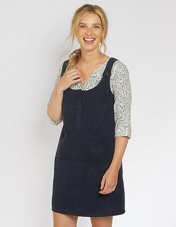 Bianca Cord Pinafore Dress