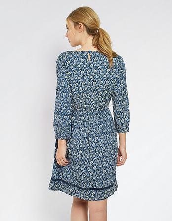 Heidi Jacquard Floral Dress