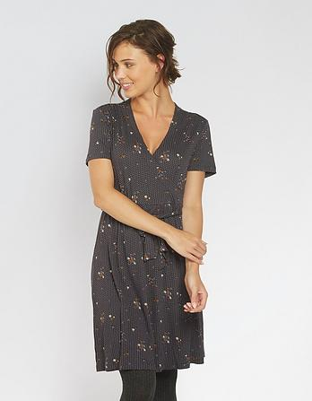 Georgia Daisy Dot Wrap Dress