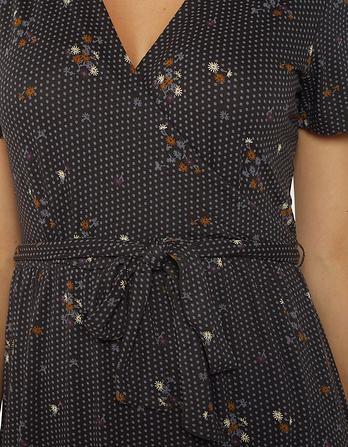 Georgia Daisy Dot Wrap Dress