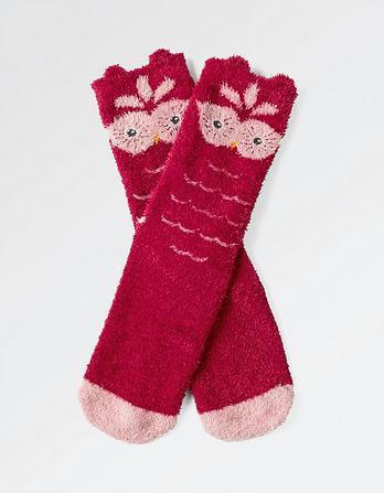 Fluffy Owl Socks