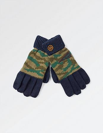Camo Badge Gloves
