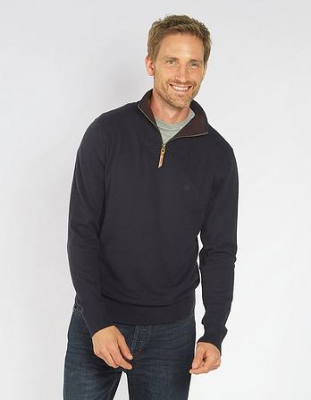 Cotton Cashmere Half Neck Jumper