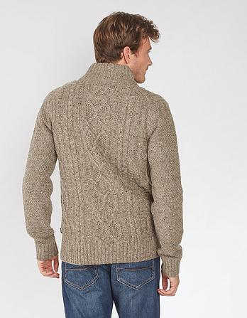 Stratton Cable Half Neck Jumper
