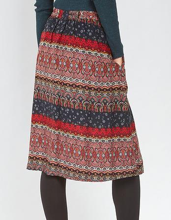 Saffron Folklore Stripe Skirt