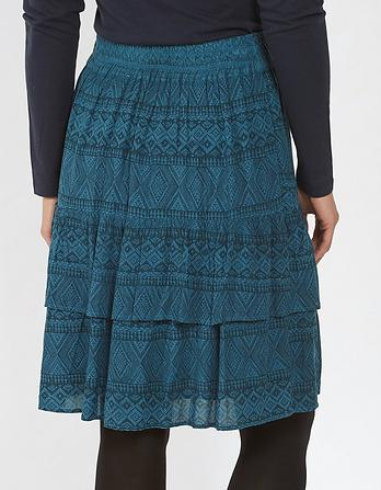 Caroline Geo Weave Skirt