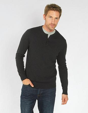 Cotton Cashmere Grandad Jumper