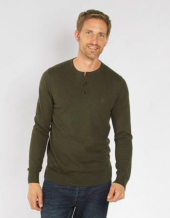 Cotton Cashmere Grandad Sweater