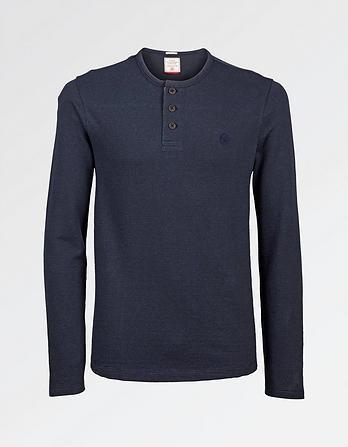Textured Henley T-Shirt