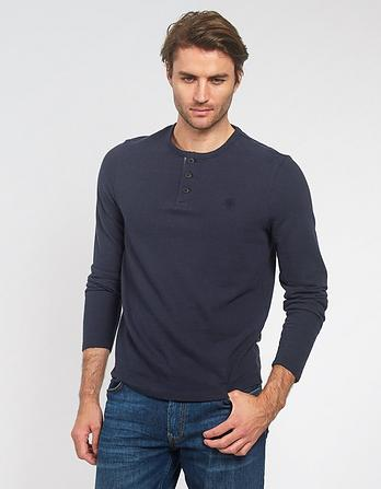 Textured Henley T-Shirt