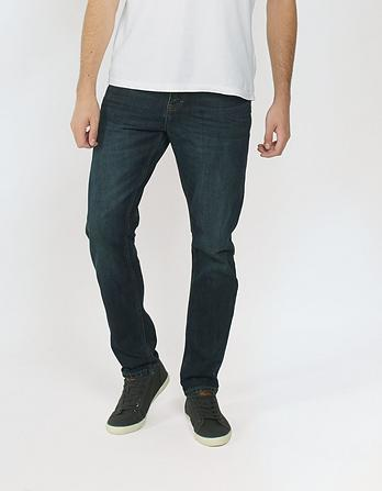 Raw Rinse Tapered Slim Jeans
