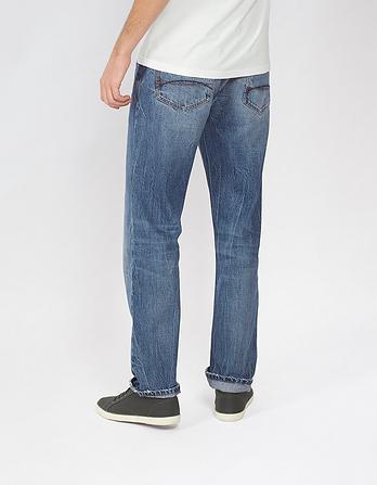 Stonewash Straight Jeans