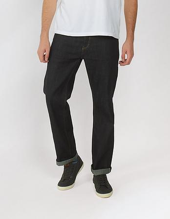 Raw Rinse Selvedge Straight Jeans