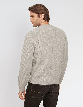 Cable Crew Neck Sweater