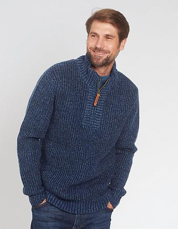 Twisted Half Neck Sweater