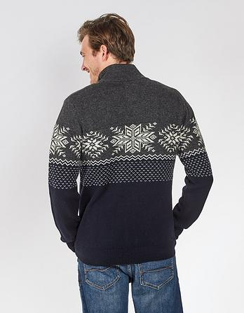 Snowflake Half Neck Christmas Jumper