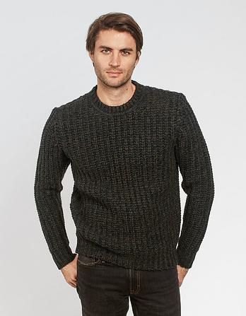 Chunky Rib Crew Neck Sweater