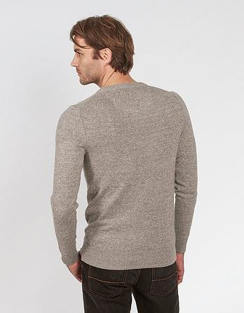 Cotton Cashmere Twisted Crew Neck Jumper