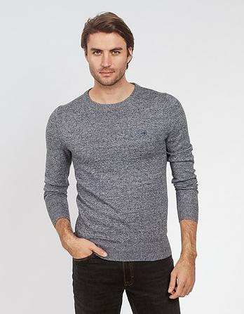 Cotton Cashmere Twisted Crew Neck Sweater
