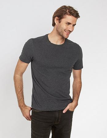 Organic Cotton Marl Crew Neck T-Shirt