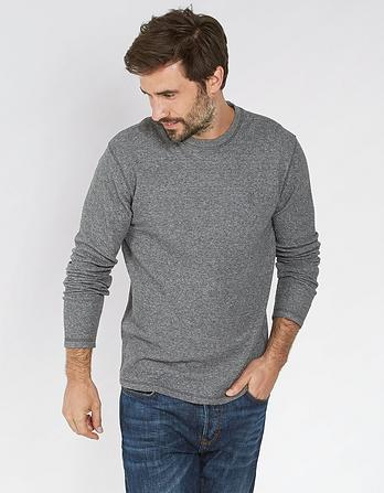 Midweight Textured Crew Neck T-Shirt