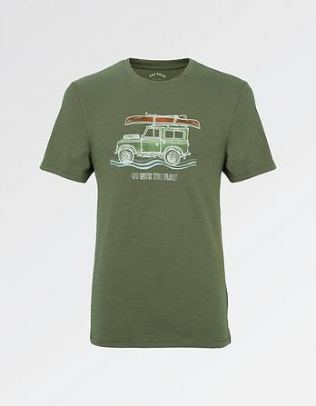 Canoe Roof Rack Vehicle Graphic T-Shirt