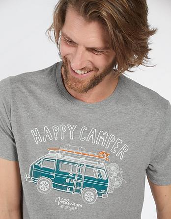 VW Happy Camper Graphic T-Shirt