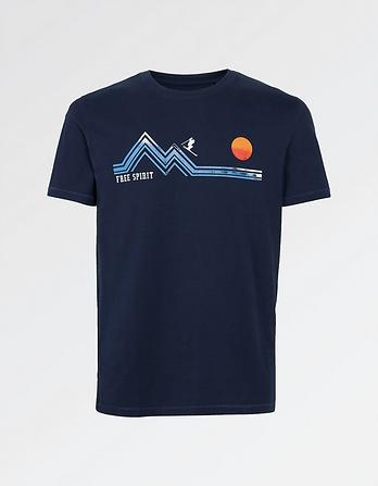 Free Spirit Skier Graphic T-Shirt