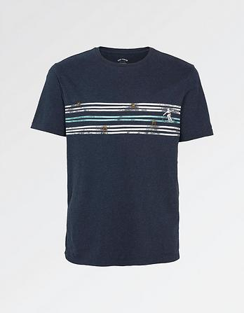 Ski Tracks Graphic T-Shirt