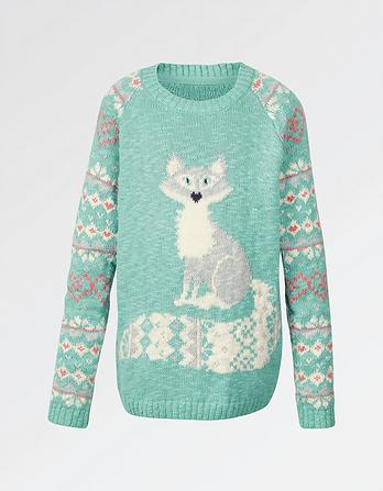 Arctic Fox Crew Neck Jumper