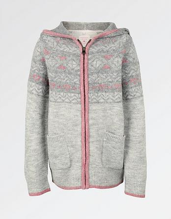 Fairisle Zip Thru Hoody