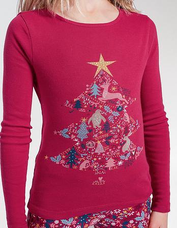 Festive Tree Snug Pajama Set