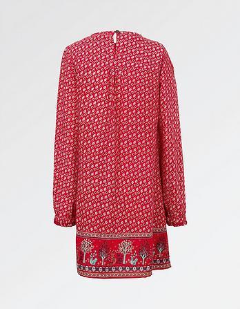 Isla Embroidered Print Dress