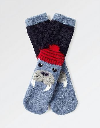 Fluffy Walrus Socks