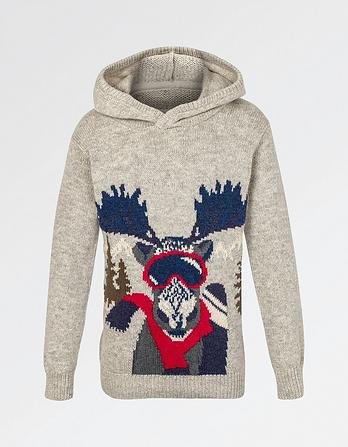 Moose Hooded Jumper
